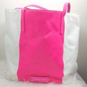 Victoria's Secret Tote Canvas Hot Pink